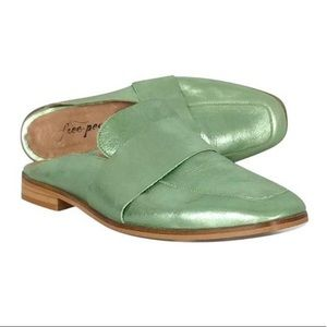 Free People At Ease Loafer Mule in Green